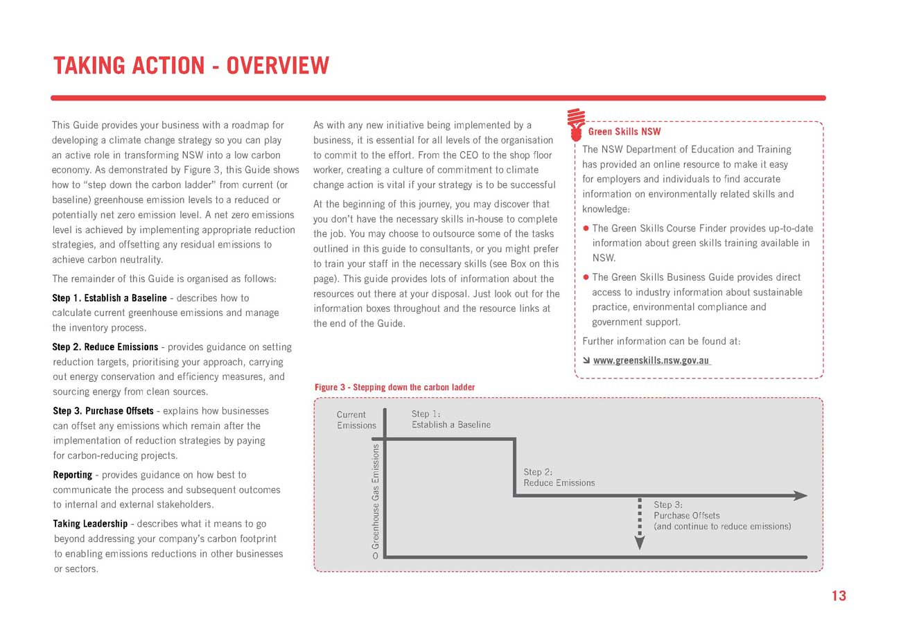 New South Wales Business Guide to the Low Carbon Economy 2 Page 3 ... I have an understanding of the legislation, will watch Government and ...